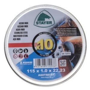 disco stayer 10 unidades para corte de hierro
